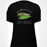 EcoBeneficial T-Shirt - Black Caterpillar