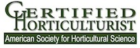 Certified Horticulturist American Society for Horticultural Science